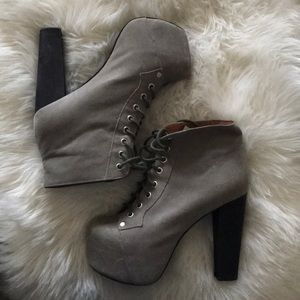 Jeffery Campbell Grey Lita Boots